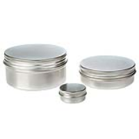 Round Aluminium Tin Container With Epe Lined Screw Lid