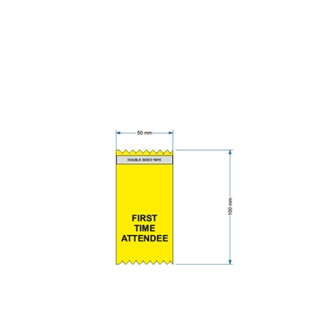 Vertical Yellow Conference Ribbon First Time Attendee