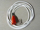 Buzzer lead, 3 metres with right angle, screened jack plug