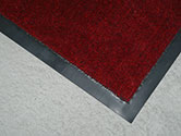 Barrier Mat, a rubber backed carpeted mat, sizes vary, up to 120 x 90cm.