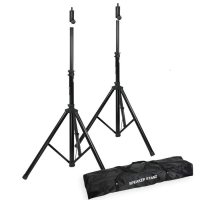 16mm Top Speaker Tripod Stand Set and Carry Case - Black