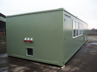 Anti-Vandal Cabins 40ft x 12ft Flat Sided Steel Office