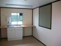 Anti-Vandal Cabins Office with fitted sink unit