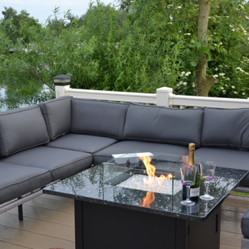 Bespoke Designed Sirius Square Gas Fire Table