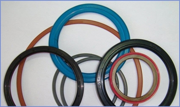 Composite oil seal of a conventional style