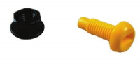 Number Plate Nuts & Bolts (YELLOW) Pk100