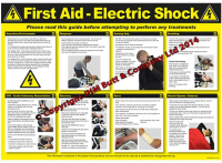 Electric Shock First Aid Poster590x420mm