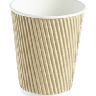 Takeaway Double Walled Ripple Paper Cups (Case of 500)