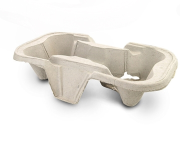 2 & 4 Cup Recycled Paper Carry Trays