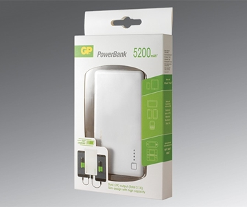 GP PowerBank Mobile Charger 352PA - 5200mAh with Silver edge