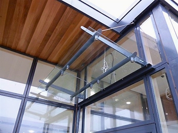 Wall Suspended Glass Canopies