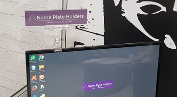 name plate holders uk pc monitor name plates clear pc monitor name