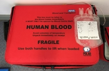 NHS Blood Bags