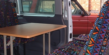 Fitted Interior Table Custom Vehicle Conversion
