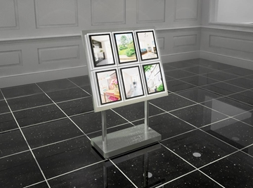 Floor-standing LED illuminated displays
