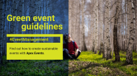 Green Event Guidelines: How to create sustainable events
