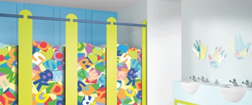 Toilet cubicles for nurseries