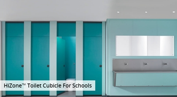 Robust toilet cubicles for schools