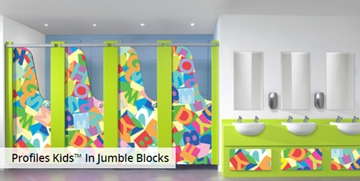 Robust toilet cubicles for nurseries