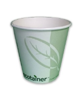 10oz Ecotainer Paper Squat Hot Cup - SMME-10 Cased 1000