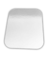 9'' x 7'' 2 & 3 Compartment White Poly Board Lid - 850820-300 cased 500