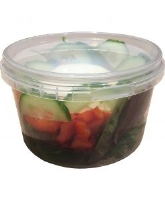 Tamper Evident Container 565ml with lids - TEP565 cased 300 bases + 300 lids