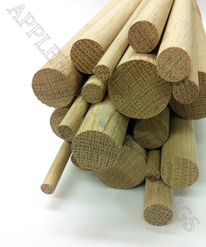 20pcs 3/8 Dia Oak Dowel Rods 36 Inches (9.52 x 914mm) - SECONDS