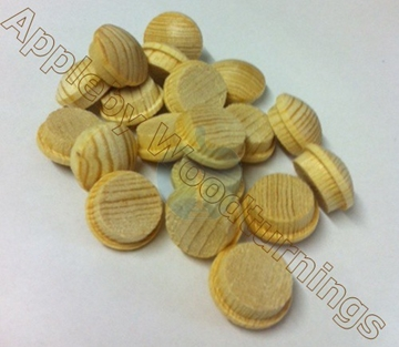 3/8 Inch Softwood Button Head Mushroom Screw Cover Plugs
