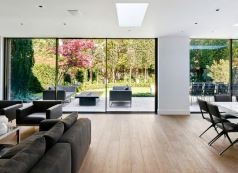 Frameless Sliding Doors for Natural Light