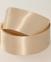 Oyster Dk Cream ( Col 135 ) Doube Faced Satin Ribbon x 20 Metre Roll