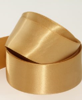 Sand Dune / Antique Gold ( Col 150 ) Doube Faced Satin Ribbon x 20 Metre Roll