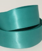 Fathom / Turquoise ( Col 715 ) Doube Faced Satin Ribbon x 20 Metre Roll