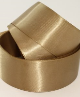 Gold Leaf ( Col 160 ) Doube Faced Satin Ribbon x 20 Metre Roll