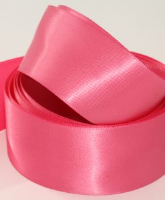 Lipstick / Rose Pink ( Col 460 ) Doube Faced Satin Ribbon x 20 Metre Roll