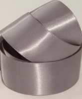 Steel Silver / Pewter ( Col 930 ) Single Faced Satin Ribbon