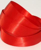 Passion Red ( Col 840 ) Single Faced Satin Ribbon