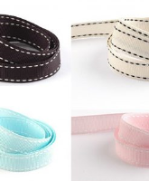 Grosgrain Ribbon with stitching detail 15mm x 100M roll