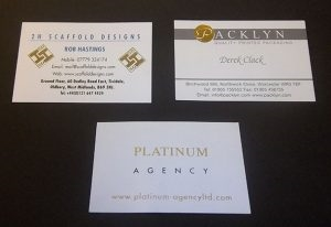 Digitally Printed Business Cards