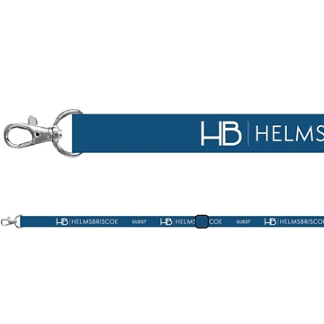 Teal Blue Custom Lanyard With Trigger Clip