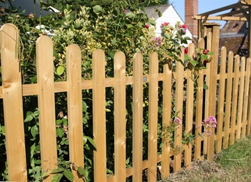 Concave Palisade Fence Panels