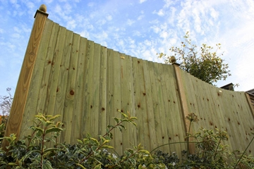 Concave Featherboard Fence Panels