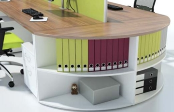 Bench Desks with Cupboards
