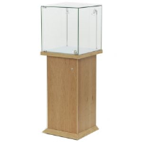 Glass Uv Bonded Pedestal For Financial Consultants