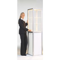 Folding Exhibition Cabinets And Counters For Financial Consultants