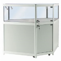 Aluminium Cabinets With Lights For Car Dealers