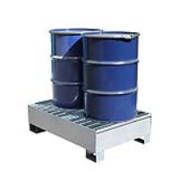 2 Drum Steel Spill Containment Pallet
