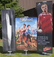 Roll Up Exhibition Banner Stand