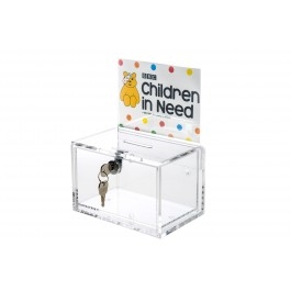 Small Charity Collection Box with Key