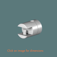 R.4(6) Single Sided Glass Shelf Support (2 piece component) Satin Polished Stainless Steel