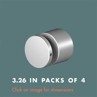 3.26 Panel Support (sold in packs of 4) Satin Polished Stainless Steel